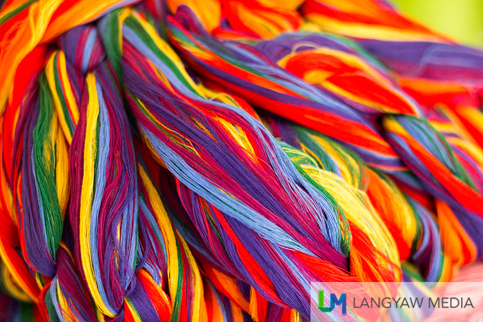 Colorful threads for loom use