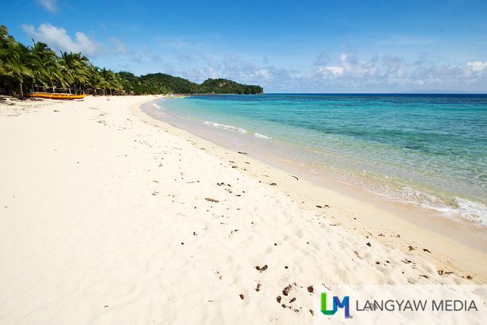 Stunning white sand beach and beautiful waters at Virac's Marilima Beach