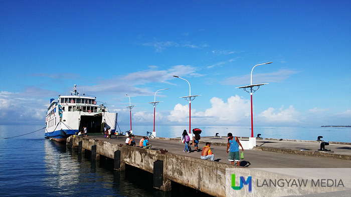 The Calixta II boat that traverses the Lagonoy Gulf to and fro Tabaco in Albay and San Andres in Catanduanes
