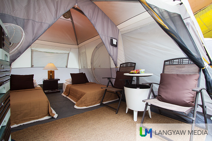 Glamour camping or glamping is also offered in Sumilon Island