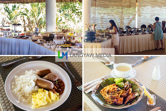 Sumilon Bluewater Resort has lunch buffets for day trippers and for staying guests, a sumptuous morning spread