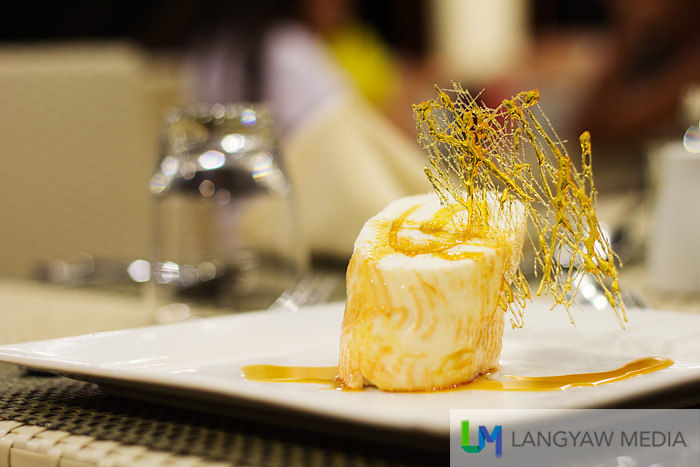 Brazo de mercedes with spun sugar for dessert!