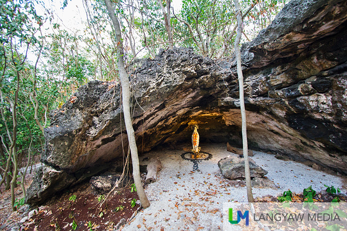 The grotto which is so close to the main path
