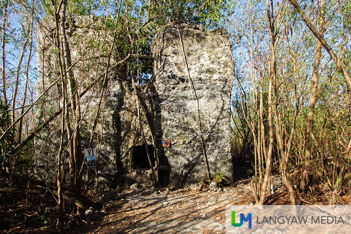 The 19th century moro watchtower is part of a network of telegraphic watchtowers initiated by Fray Julian Bermejo