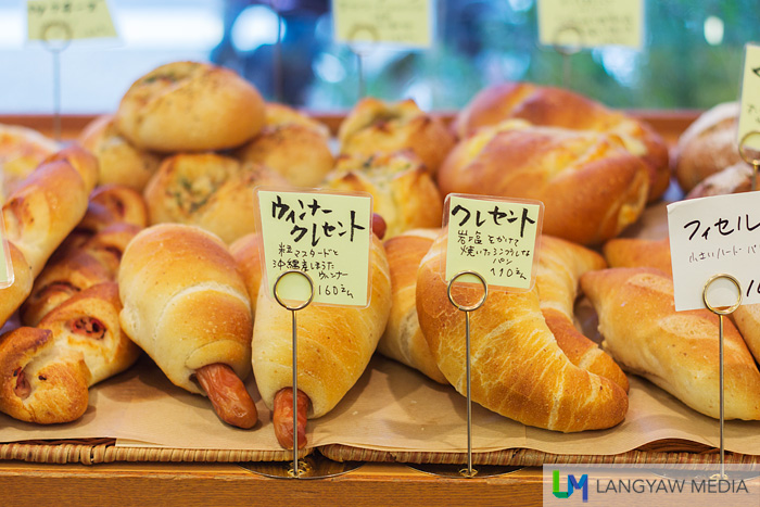 Several kinds of bread and pastries
