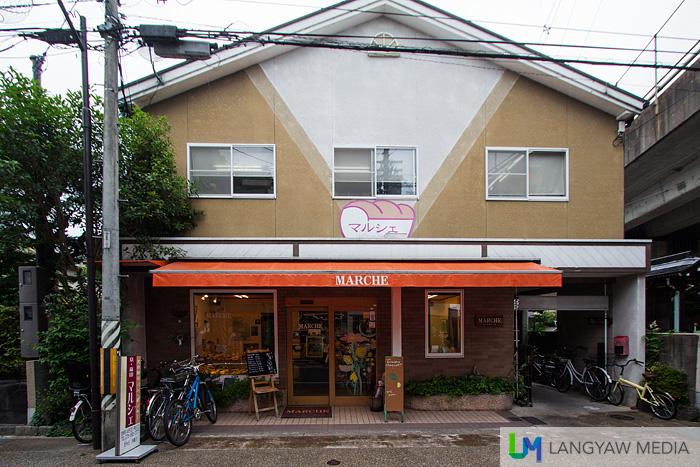 Facade of the cafe