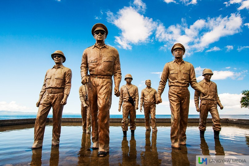 The historic monument that commemorates Gen. Douglas McArthur and party's landing in Leyte