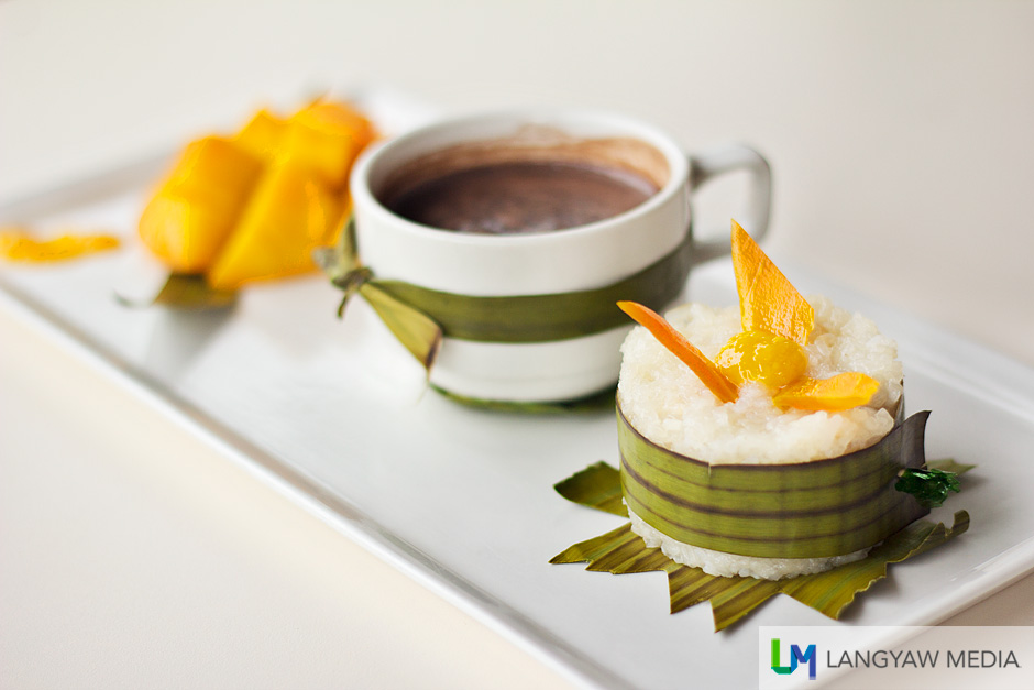 Very delicious and memorable puto paired with sweet ripe mango and hot chocolate