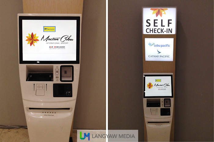 How the new self check-in kiosks look