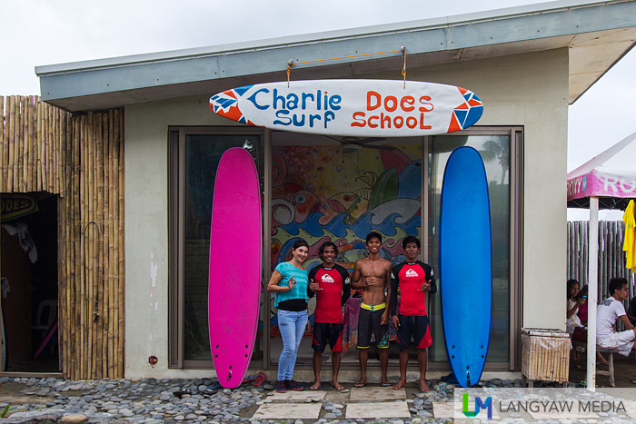 Learning to surf via Charlie Does Surf school