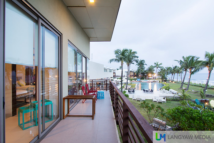 Veranda of the Seaside Family Suite