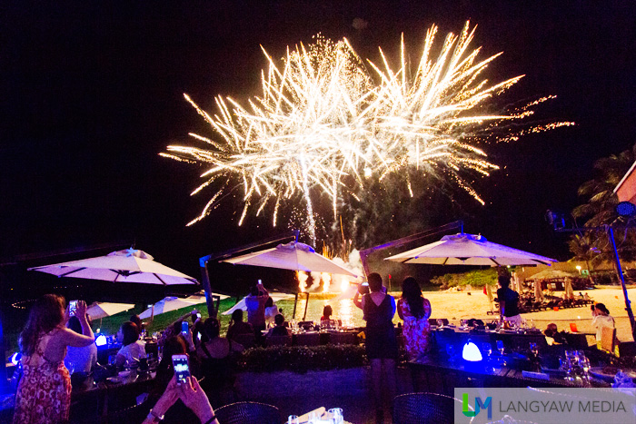 Fireworks as Crimson Resort and Spa turns five and Azure Beach Club turns one year old.