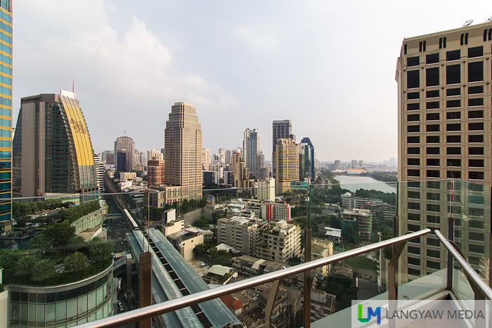 View of Asok at the viewing deck of Altitude, the highest part of Westin Bangkok