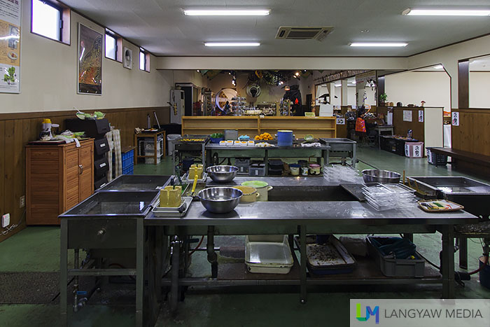 The fake food workspace where workshops are held