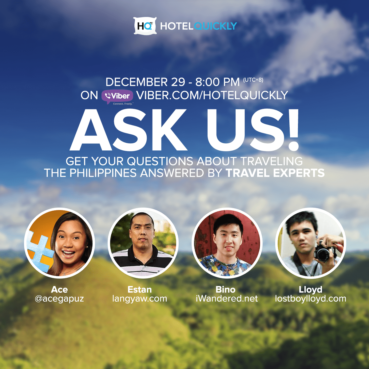 Ready with your questions in traveling the Philippines?