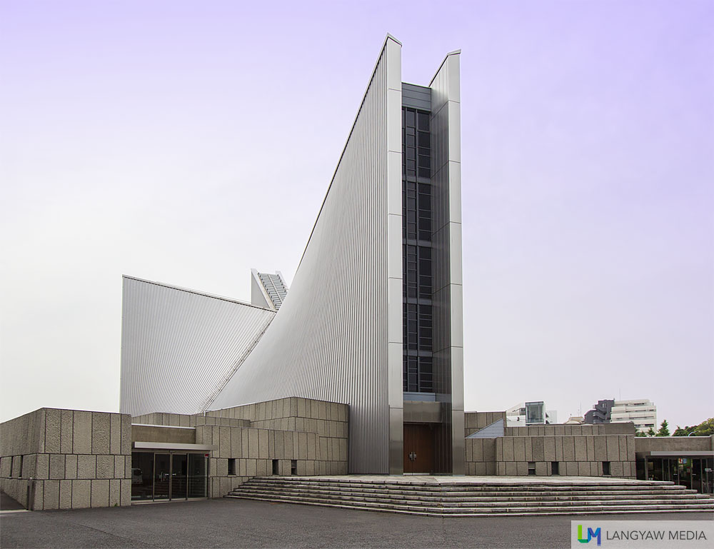 The stunning St. Mary's Cathedral, the seat of the Archdiocese of Tokyo was designed by Kenzo Tange, Pritzker Award Winner. It is one of the modernist buildings in the city and built in 1964.