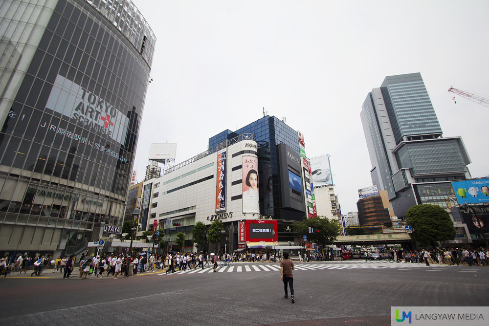 The famous Shibuya intersection before the crossing