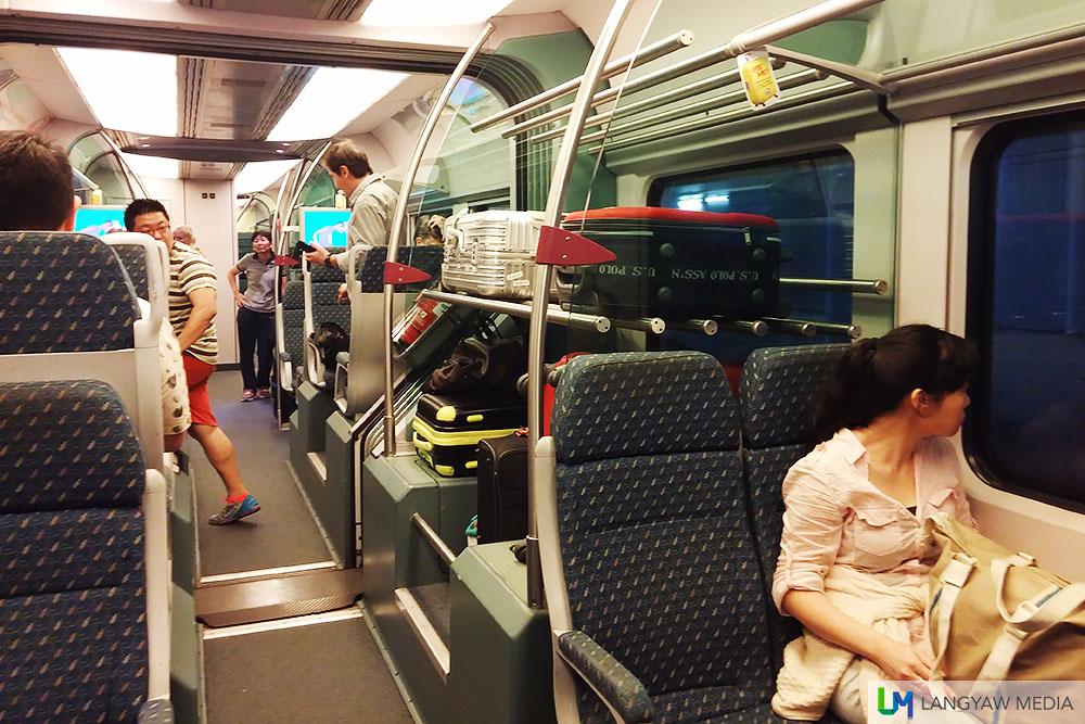 Inside the KLIA Ekspres train