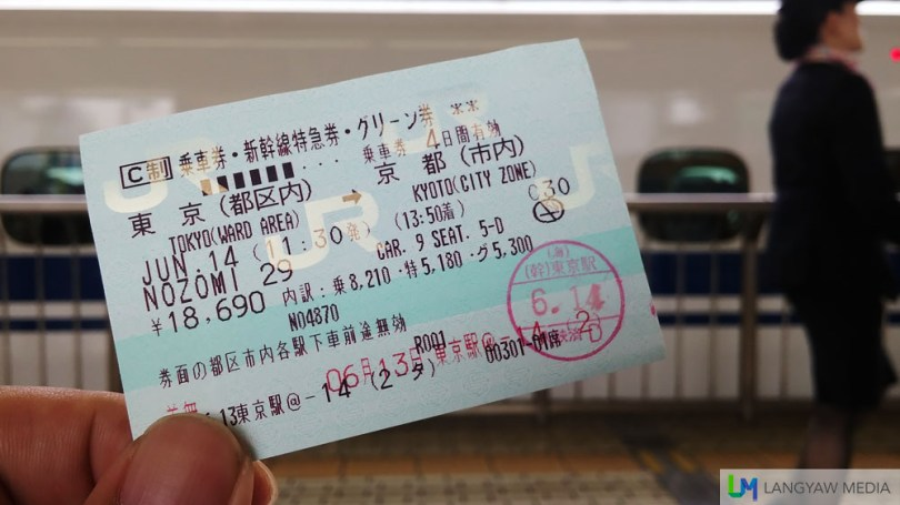My P8,600+ shinkansen ticket for a ride that took two hours and twenty minutes