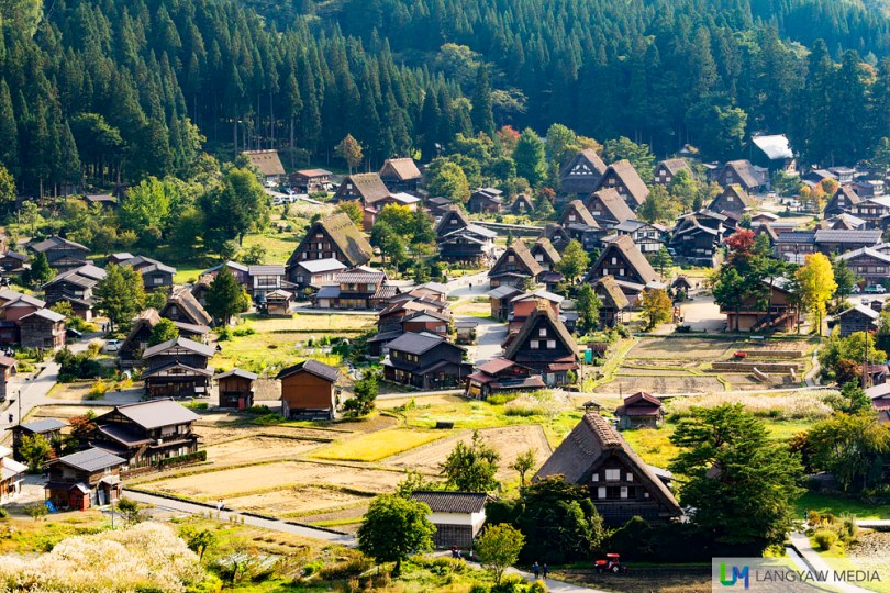 Shirakawa-go's unique houses were built for winter and have been declared as UNESCO World Heritage