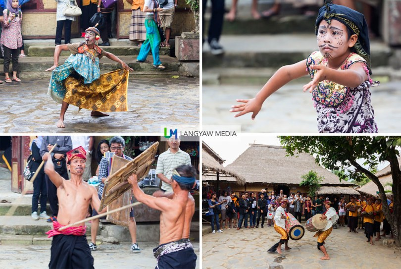 Sasak villagers perform ritual dances and fights for visitors.