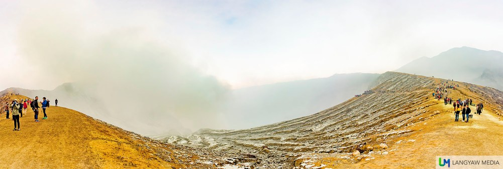 Panorama of Kawah Ijen early in the morning. CLICK FOR A BIGGER PHOTO