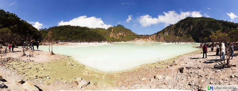 Panoramic spread of Kawah Putih
