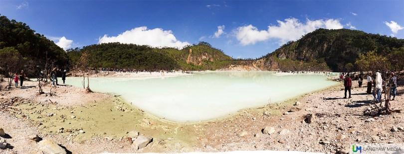 Panoramic spread of Kawah Putih