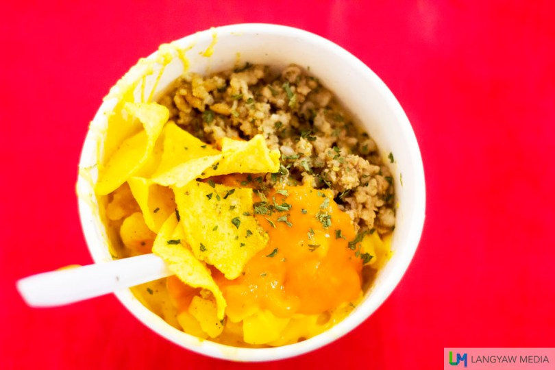 At P100 per small bowl, this Mexican Nacho Mac n' Cheese is just so good that if I had still time, I would have ordered a second helping. Or a third.
