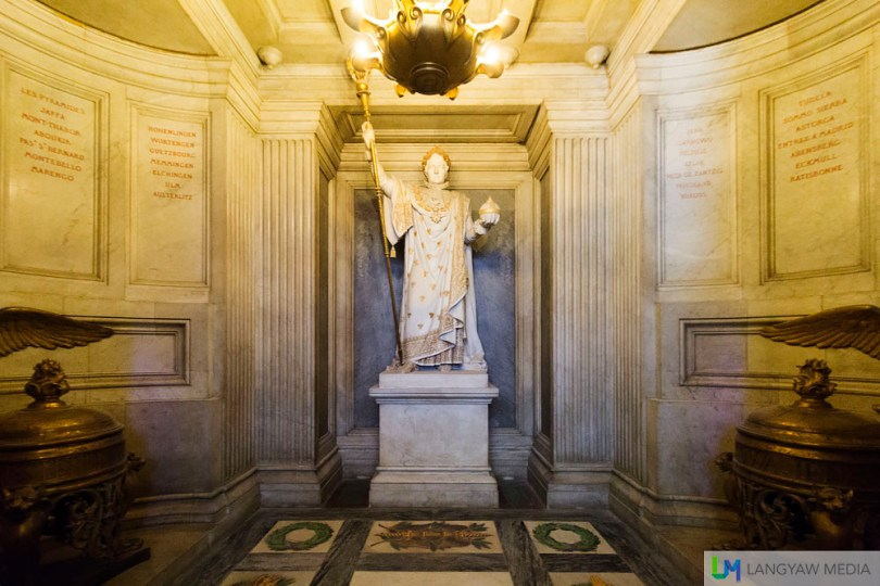 Roi de Rome, Napoleon Bonaparte sculpture at the underground crypt