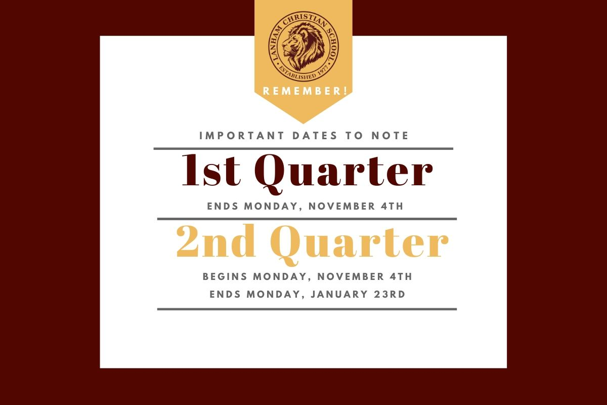 1st to 2nd Quarter Dates