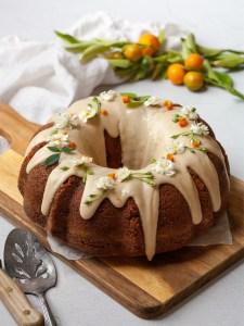 glazed ricotta fig cake