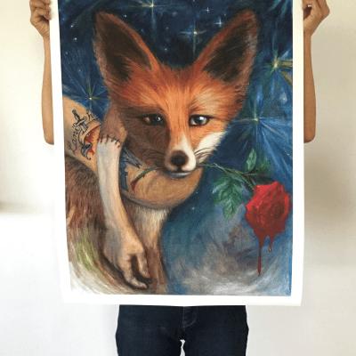 Fox Muffler Printed