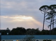 And a view from the Gulf State Park RV park
