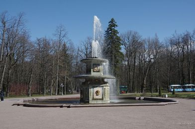 One of the many Peterhof Palace fountains