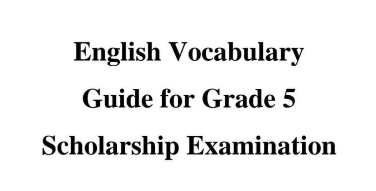 Grade 5 English Papers