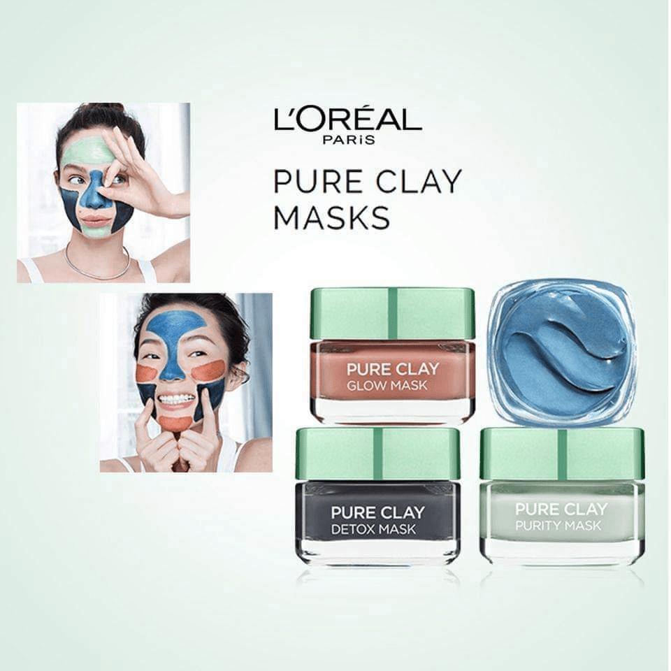 L'Oreal Paris Pure Clay Detox Face Mask Charcoal 50ml ...