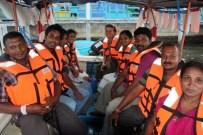 Boat trip with colleagues, Batticaloa lagoon