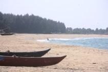 The beach near our house in Batticaloa