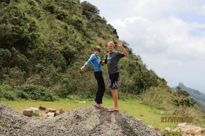 Fighting the wind at Corbett's Gap, Knuckles Range