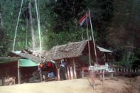KNU checkpoint and Karen national flag