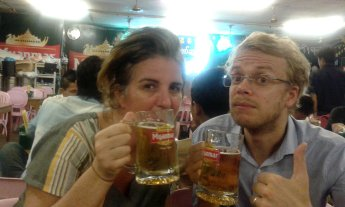 Beer station antics, Yangon