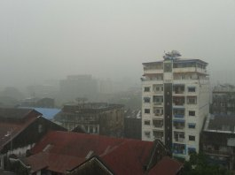 Yangon monsoon, Downtown