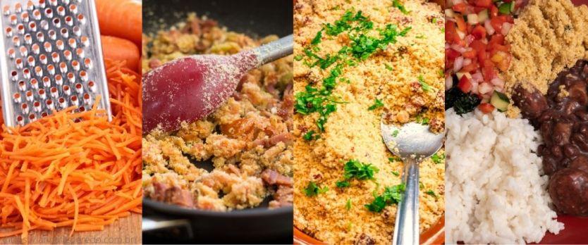 Receita de farofa de bacon com cenoura