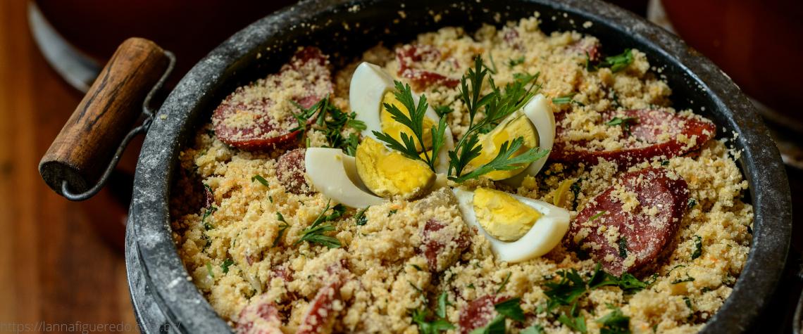 receita farofa de cenoura com linguiça ou calabreza