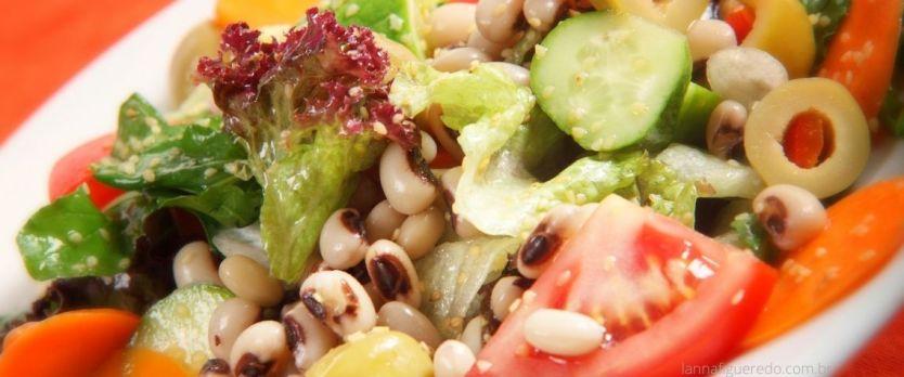 salada de feijao fradinho legumes