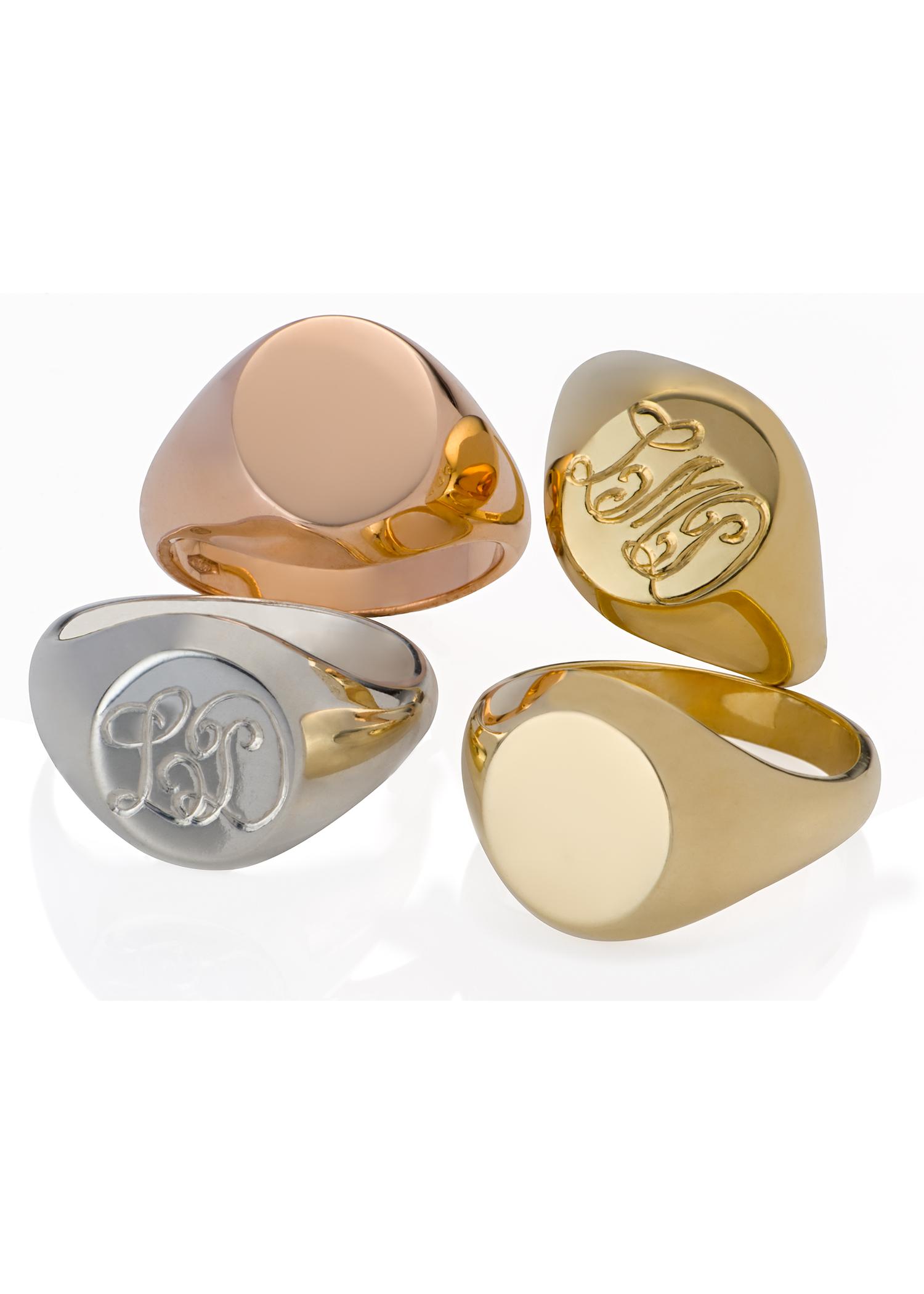 monogrammed rings