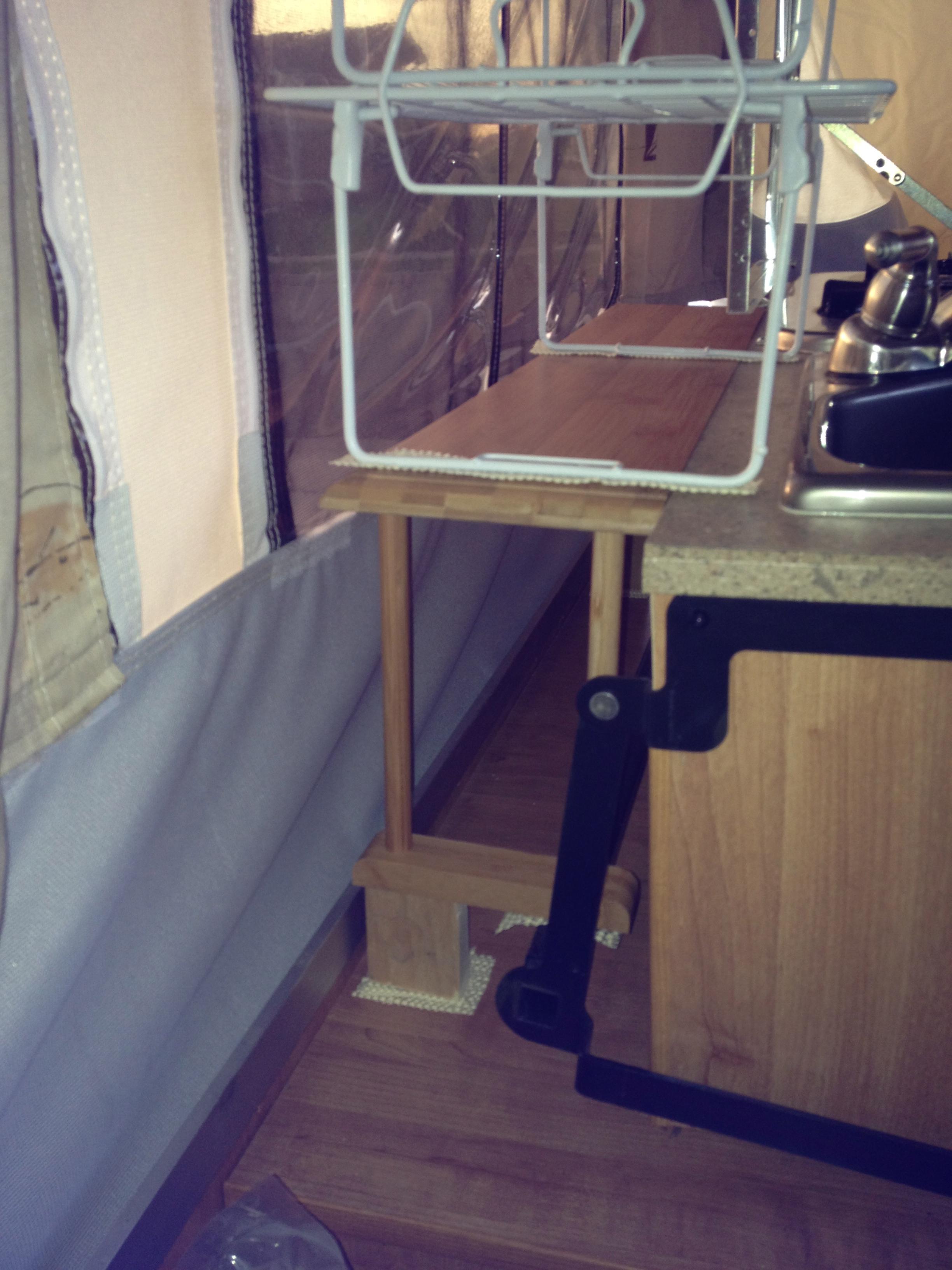 My Pop Up Camper Storage Ideas Shelves To Go Lannef72