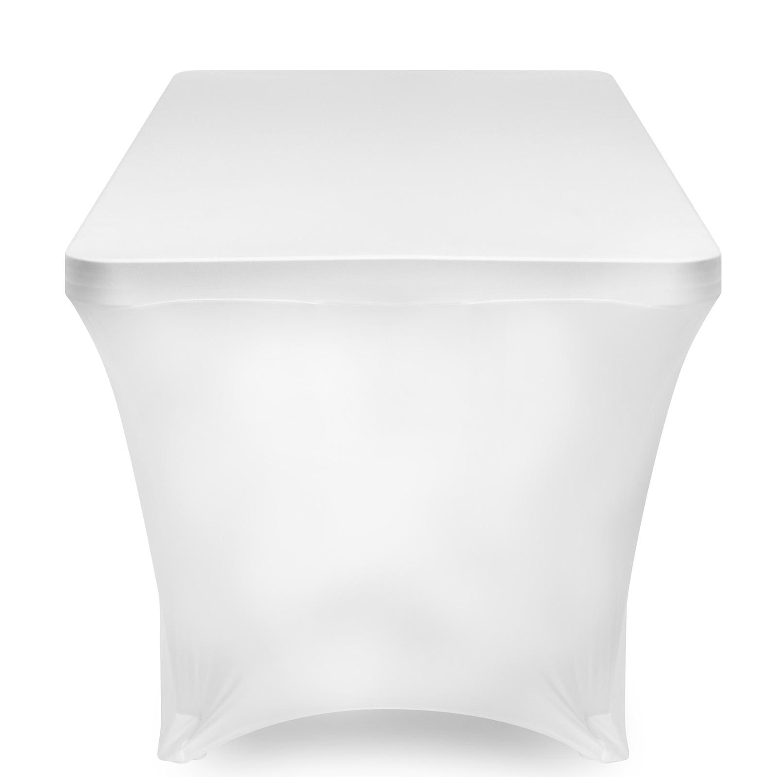 Superb Lanns Linens 4 Fitted Stretch Tablecloth For 48 X 24 Rectangular Table Wedding Banquet Trade Show Spandex Cloth Fabric Cover White Spiritservingveterans Wood Chair Design Ideas Spiritservingveteransorg