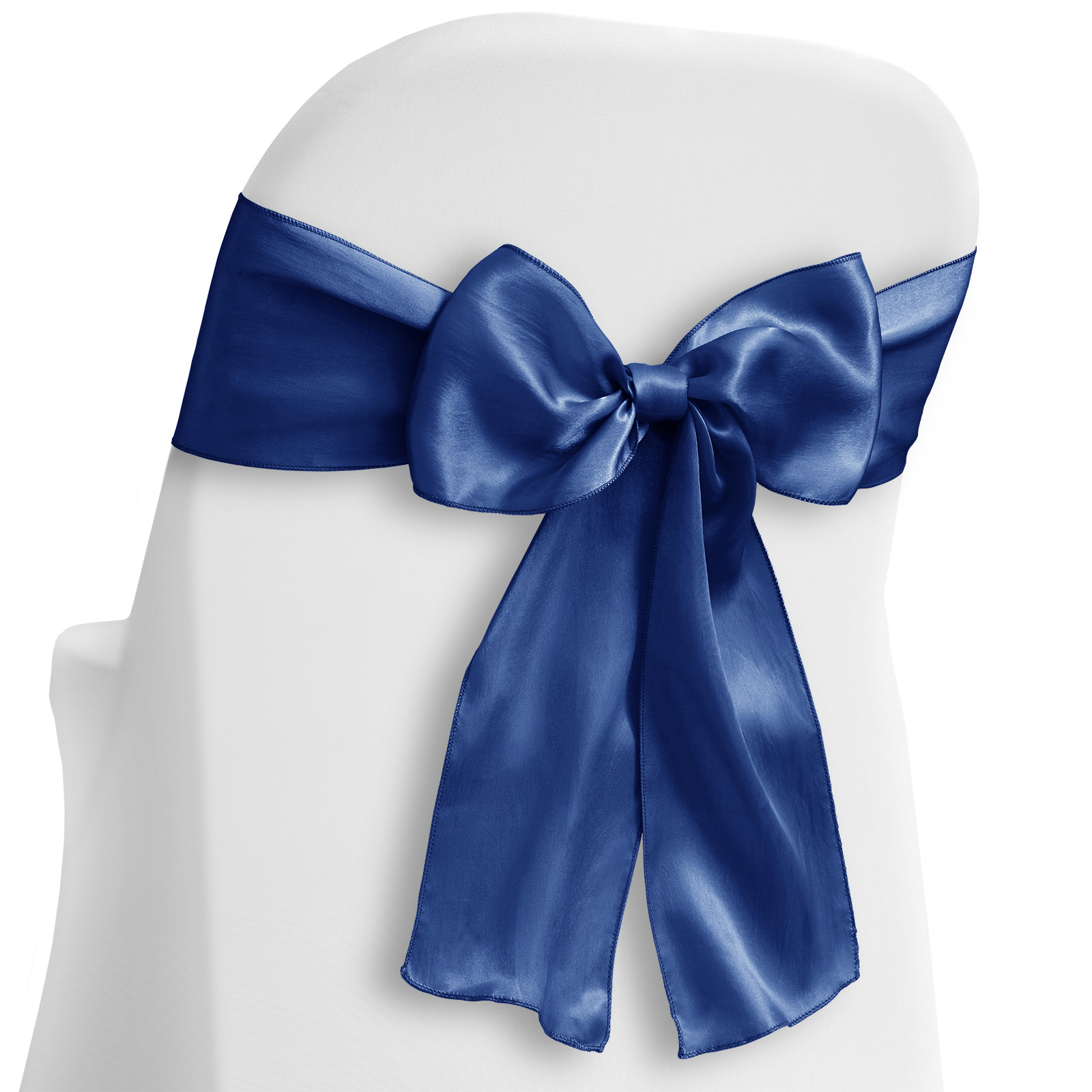 Surprising Lanns Linens 10 Elegant Satin Wedding Party Chair Cover Sashes Bows Ribbon Tie Back Sash Royal Blue Lanns Linens Caraccident5 Cool Chair Designs And Ideas Caraccident5Info